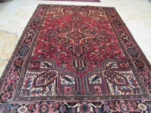 3460 Persian Heriz 7.2x9.7